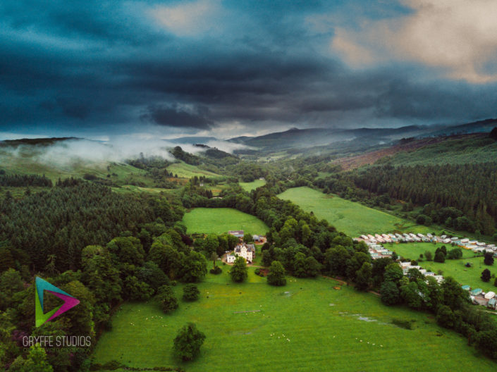 Aerial Photography Lachlan Castle
